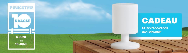 Pinkster 10 Daagse met gratis lamp  BuitenHof Tuinmeubelen